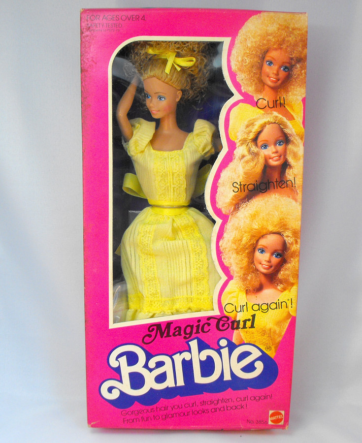 Magic Curl Barbie Doll