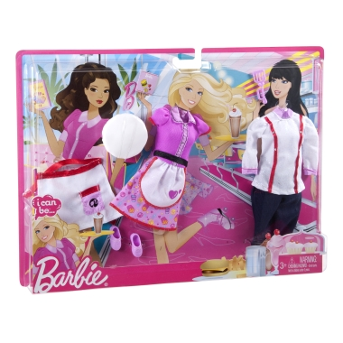 !NEW! Barbie - I Can Be: Chef & Waitress fashion set