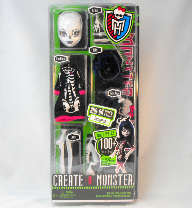 Monster High Create a Monster - Skeleton Add-On Accessory Parts (US version)