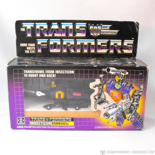 Transformers G1 Insecticon Bombshell