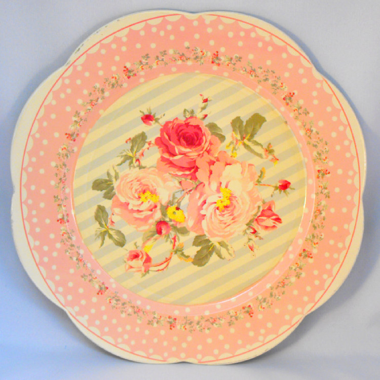 Danish Rose decorative plate